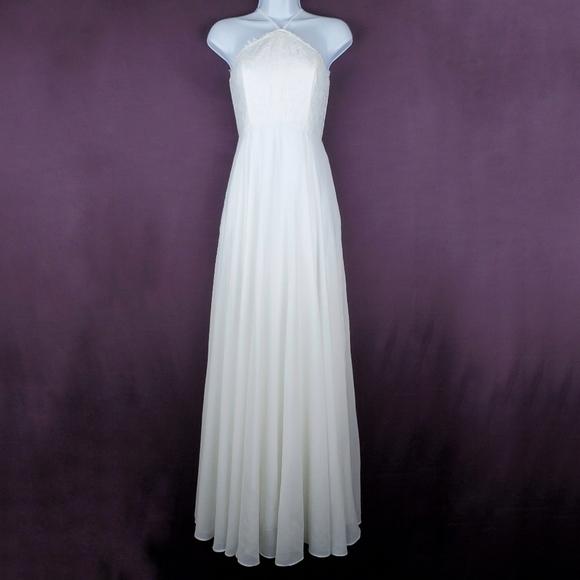Lulu's Dresses & Skirts - LULU'S Everlasting Enchantment Ivory Maxi Dress S